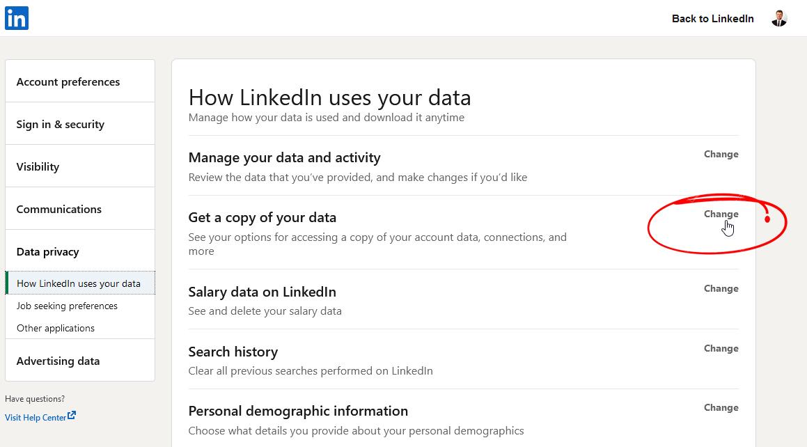 Linkedin Kişisel Veriler